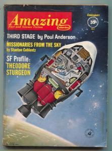 Amazing Stories February 1962- Schomburg cover- Finlay
