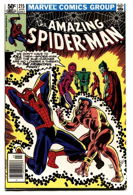 AMAZING SPIDER-MAN #215-COMIC BOOK 1981-MARVEL