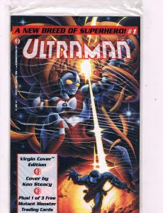 Lot Of 2 Ultraman Ultracomics Comic Books # 1 2 Virgin Cover Ken Steacy AD23