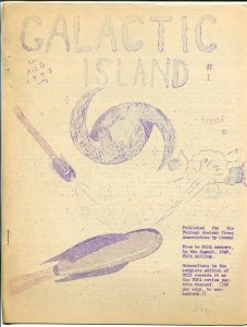Galactic Island #1 1948-sci-fi and pulp info-historic-informative-VG