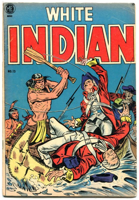 WHITE INDIAN #13, VG, Frank Frazetta, Indians, Western, 1953, Revolutionary War
