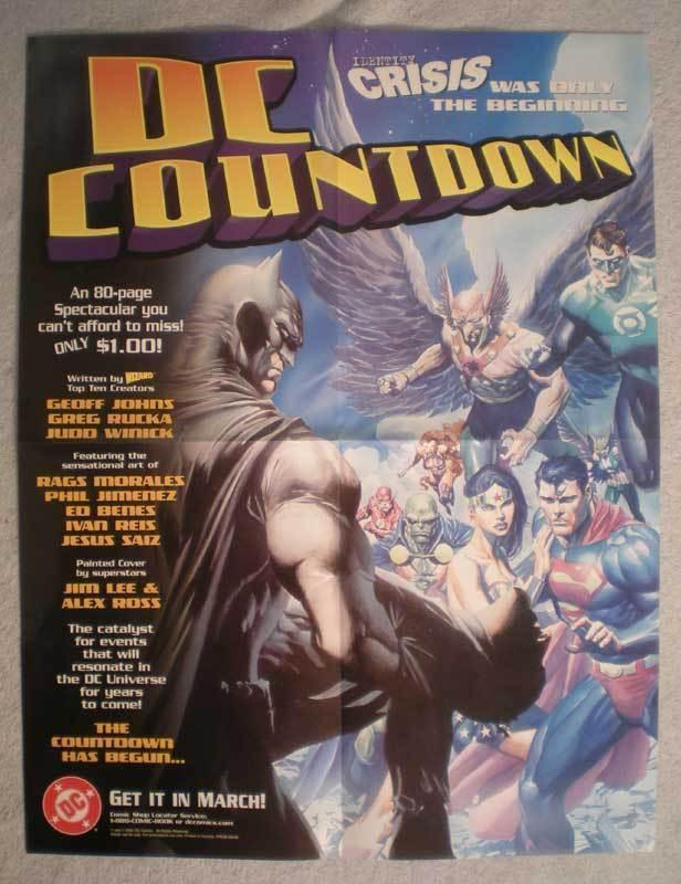 DC COUNTDOWN Promo Poster, Green Lantern, Batman, Unused, more in our store