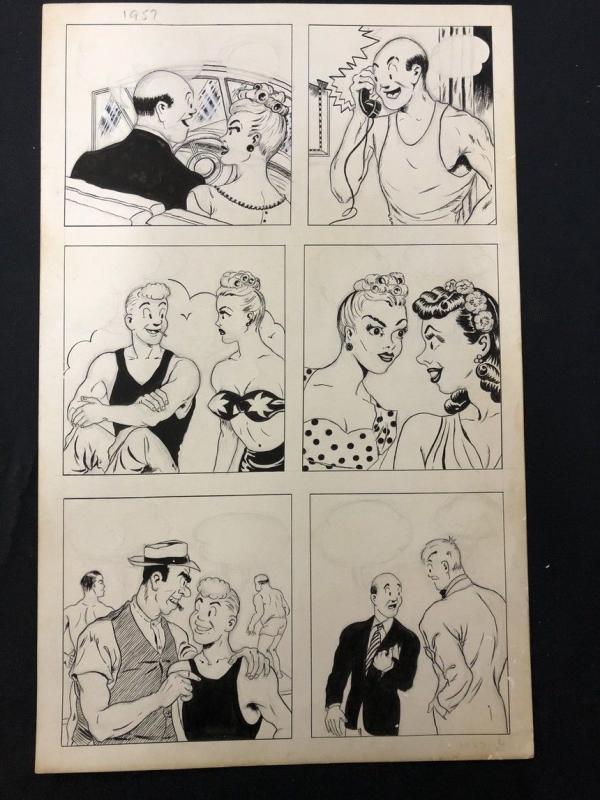 Joe Palooka Unpublished Comic Book Page 1957
