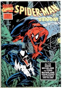 Spiderman vs Venom TPB McFarlane 1st printing High Grade 1990 NM Near Mint Comic