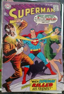 Superman #203 (DC,1968) Condition GD/VG
