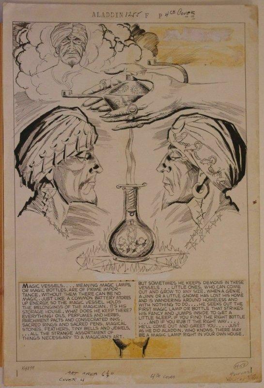 LUIS DOMINGUEZ original art, WONDERS of ALADDIN #1255, Four Color, Dell, 1961