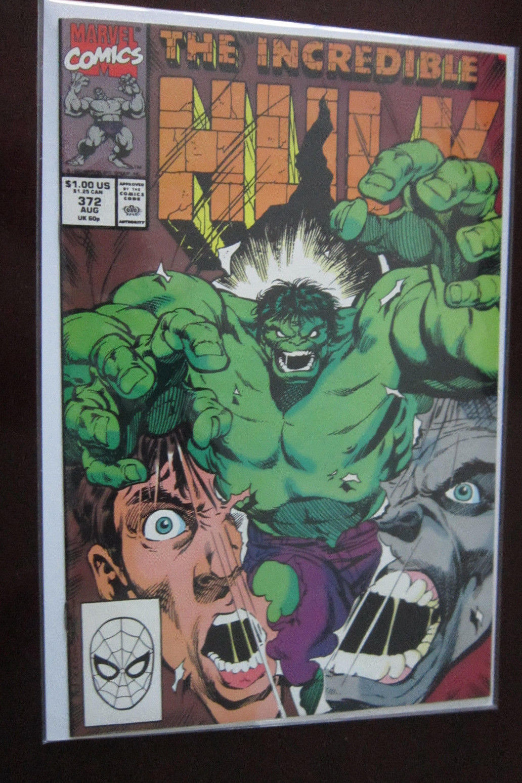 Incredible Hulk (1990 1st Series) #372, DIRECT EDITION, 8 0/VF