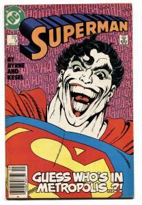 Superman #9 1987 DC comic book JOKER - Newsstand variant