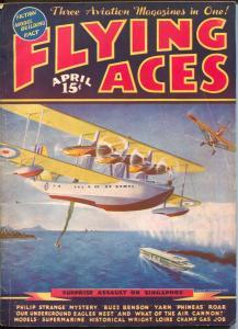Flying Ace4/1937-hero pulp-Buzz Benson-Al McWilliams-Dick Knight-VG