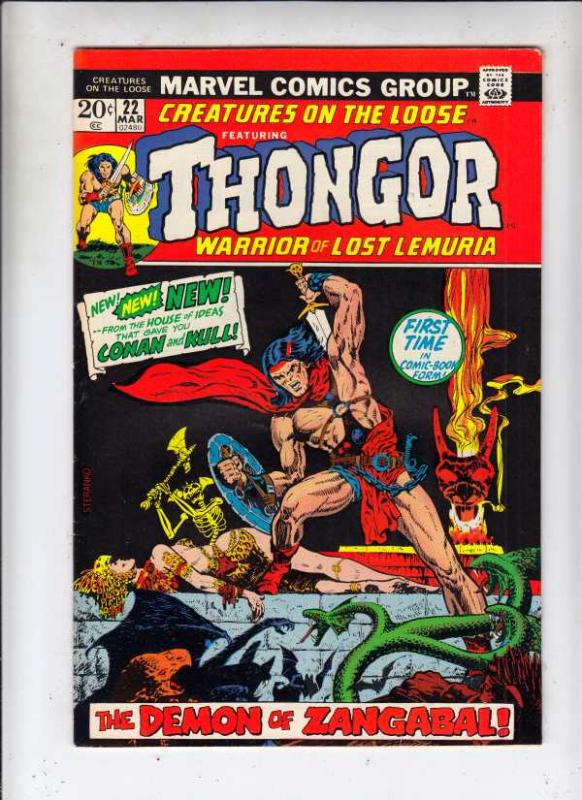 Creatures on the Loose #22 (Mar-73) NM- High-Grade King Kull