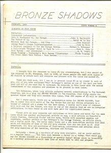 Bronze Shadows #2 1966-JOHN D MACDONALD-Doc Savage fanzine-LYNN HICKMAN-vg