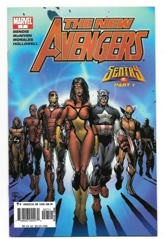 New Avengers #7 VF/NM Key Issue 1st App. Illuminati 1st Print Marvel Comics 2005
