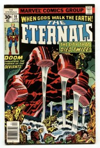 THE ETERNALS #10  Jack Kirby-Comic Book Marvel 1976 VF/NM