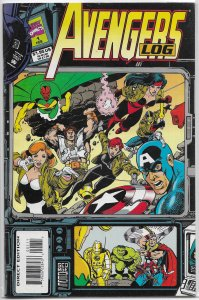 Avengers Log #1 FN (1994) Perez cover, Sanderson reference book