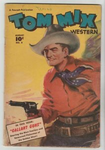 Tom Mix Western #8 (Aug-48) VG+ Affordable-Grade Tom Mix