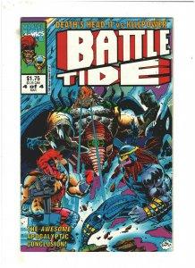 Battletide #4 VF+ 8.5 Marvel UK 1993 Death's Head II & Killpower, Wolverine