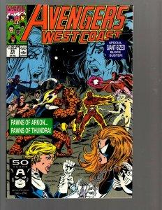 11 Comics Avengers West Coast #75 76 81 96 ANN 4 7 Avengers 1 6 12 13 + 1 EK22