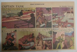 Captain Yank Sunday by Frank Tinsley from 9/20/1942 Size: 11 x 15 inches