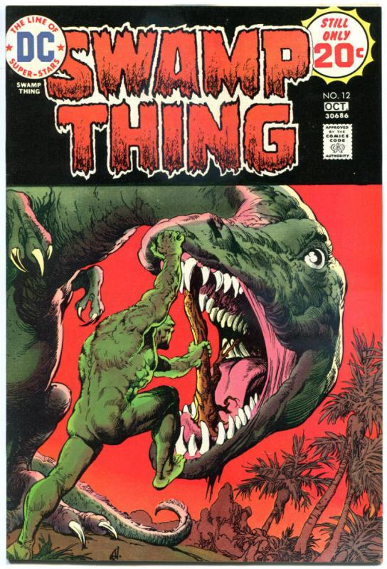 SWAMP THING #9 12, VF, Bernie Wrightson, 1973, 2 issues, Dinosaur, T-rex