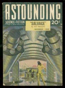 ASTOUNDING SCIENCE-FICTION NOV 1940-L RON HUBBARD-PULP VG