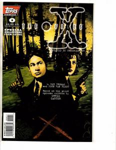Lot Of 9 X-Files Topps Comic Books # 0 1 (2) 2 3 5 6 7 8 Fox TV Show J206