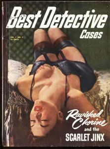 BEST DETECTIVE CASES #1 GGA cover 1951-PULP-Craig Rice-First issue