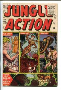 JUNGLE ACTION #6-1955-ATLAS-LOZAR-LEOPARD GIRL-JOE MANEELY COVER-vg