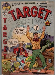 Target Vol. 3 #12 1943-Targeteers-Chameleon-The Cadet-WWII-horror-VG/FN