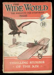THE WIDE WORLD PULP AUG 1918  WW I AIR STORIES DALTON G/VG