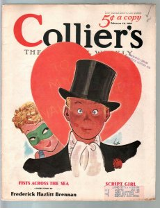 Colliers 2/13/1937-Masked lady-Valentines Day cover by Earl Oliver Hurst-Haycox-