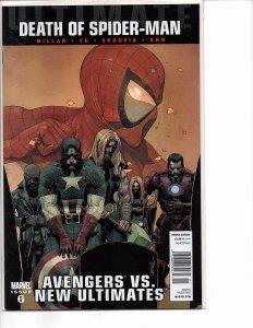 Marvel Comics Ultimate Avengers vs. New Ultimates #6 Death of Spider-Man