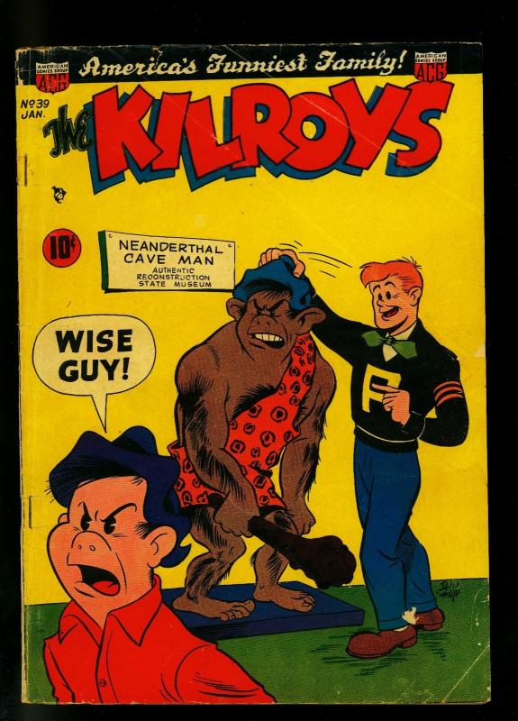 Kilroys #39 1952- Golden Age Humor- Cave man cover- VG
