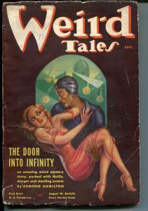 Weird Tales 9/1936-Margaret Brundage-Good Girl Art-Dr Satan-R E Howard-pulp-G/VG