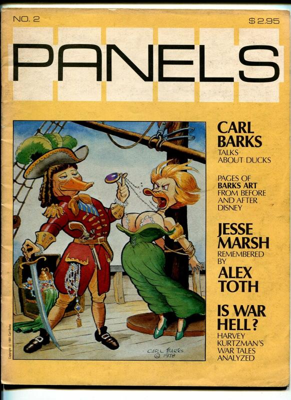 Panels #2 1981-Harvey Kurtzman-Carl Barks-Jesse Marsh-Alex Toth-VG+