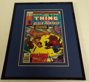 Marvel Two in One #40 1978 Framed 11x14 ORIGINAL Cover Black Panther The Thing