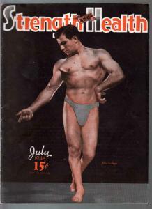 Strength and Health 7/1945-WWII era-male & female body builders-FN