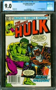 Incredible Hulk #271 CGC Graded 9.0 1st comic book appearance of Rocket Raccoon.