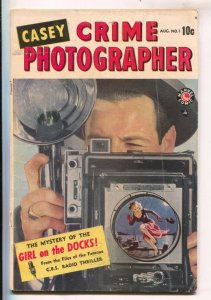 Casey Crime Photographer #1 1949- Marvel-1st issue-Allen Anderson-George Tusk...