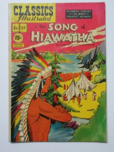 Classics Illustrated- 57 The Song of Hiawatha by Longfellow HRN 94 3rd Edition