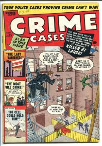 CRIME CASES #25 1950-PRISON BREAK-PRE-CODE VIOLENCE-vg/fn