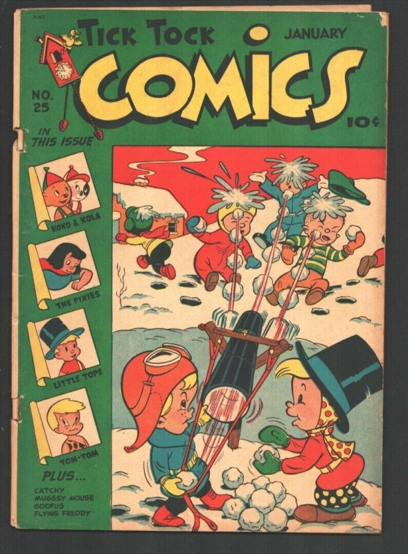 Tick Tock Comics #24 1948-ME-Title change-Koko & Kola-Pixies-Tom-Tom Jungle B...