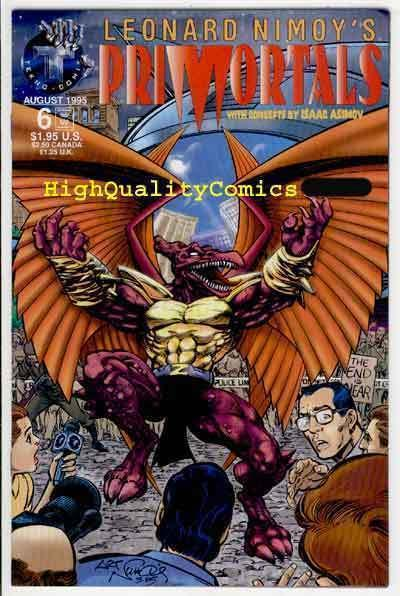 PRIMORTALS #6, NM+, Isaac Asimov, LEONARD NIMOY, 1995, more Indies in store