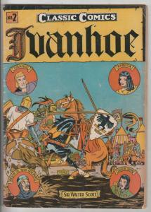 Classics Comics #2 (Jul-44) FN Mid-Grade Ivanhoe