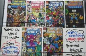 INFINITY GAUNTLET #1-6 COMPLETE! VF-NM, #1 signed George Perez! w/CoA 1991