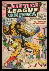 JUSTICE LEAGUE OF AMERICA #20 1963 DC GREEN LANTERN BAT VG