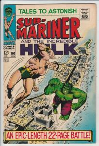 Tales to Astonish #100 (Feb-68) VF/NM High-Grade Incredible Hulk, Namor
