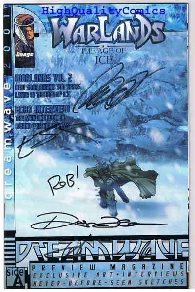 DREAMWAVE 2001 Preview, Signed, Dark Minds, 2000, NM+, Warlands, Age of Ice