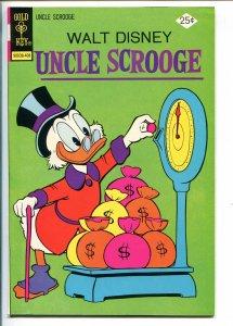 UNCLE SCROOGE #113 1974-GOLD KEY-WALT DISNEY-CARL BARKS ART-vf+