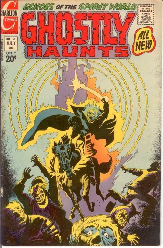 GHOSTLY HAUNTS (1971-1978) 33 F+ Ditko cover and art COMICS BOOK