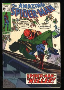 Amazing Spider-Man #90 VG/FN 5.0 Death of Captain Stacy!